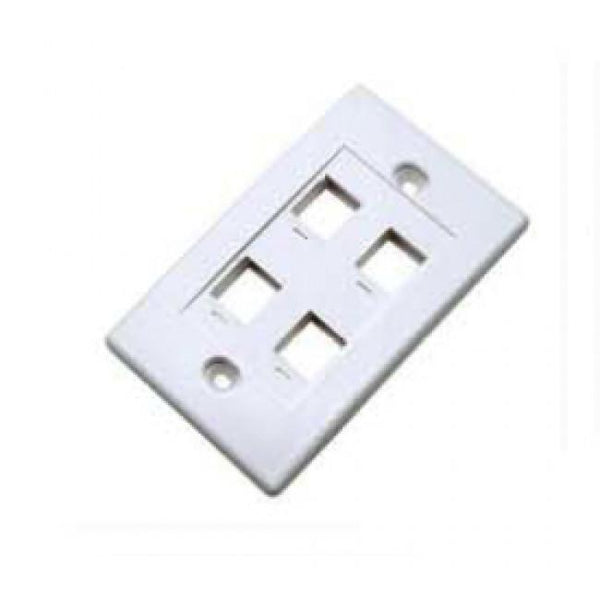 4 Way Keystone Face Plate