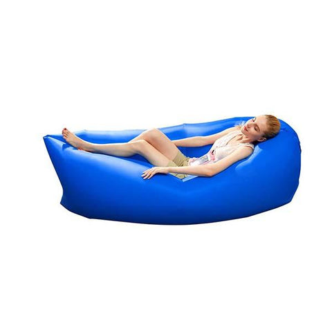 Fast Inflatable Sleeping Bag Lazy Air Sofa Blue