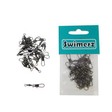 Swimerz Barrel Swivel With Interlock Snap Black Nickel 50 Pack
