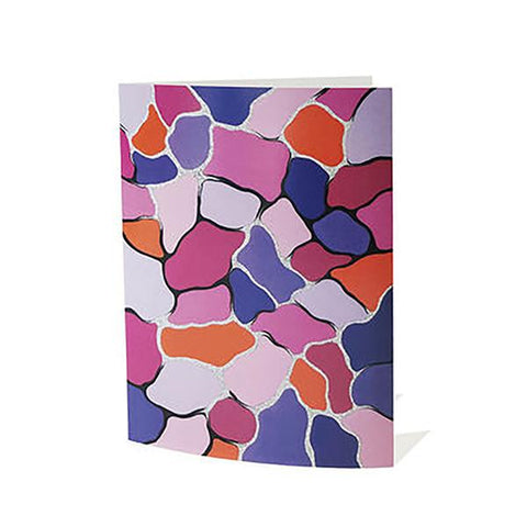 Variegated Aboriginal Greeting Card Blank Inside A6