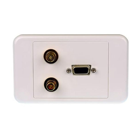 Svga Wall Plate With Stereo Audio