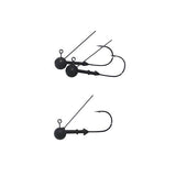 Vike 3 16 Oz Weedless Round Tungsten Jig Head 3 Pack