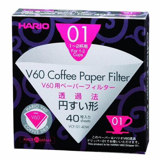 Hario V60 01 Filter Papers (40)-Hario-Coffee Hit