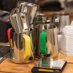 Rhino Yellow Milk Pitcher Handle Covers-Rhino Coffee Gear-Coffee Hit