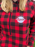 Buffalo Plaid Trust Your Fierce Instinct Hoodie