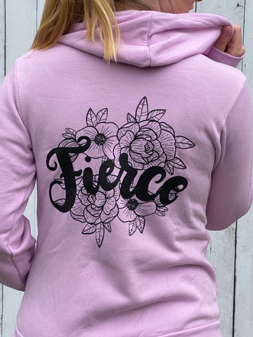 Fierce Zip Up Hoodie Lilac