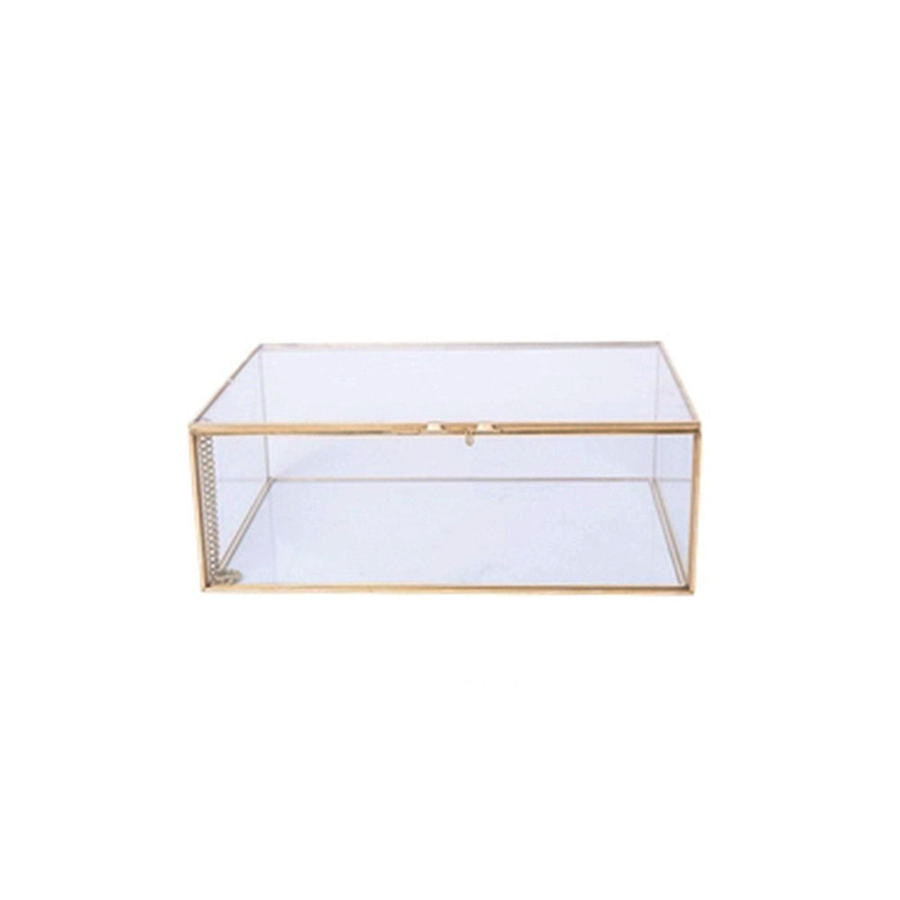 10cm Glass Mirrored Bottom Keepsake Box - Propstation