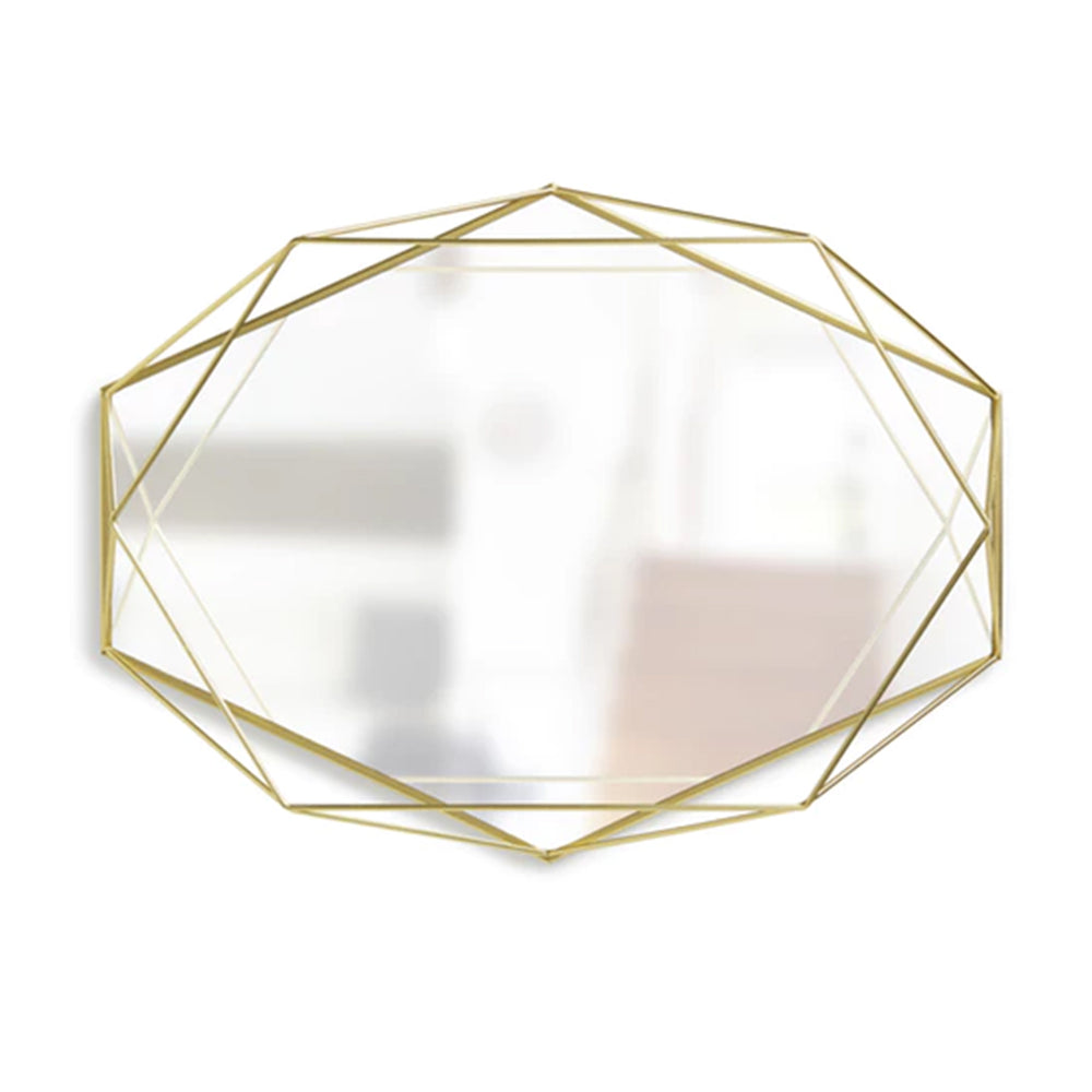 Gold Geometry Decorative Pallet Mirrored Glass Tray - Propstation