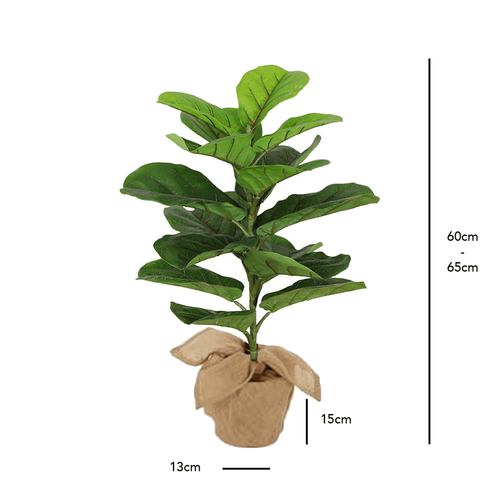 Realistic Fiddle Leaf Fig Potted Faux Plant 60cm
