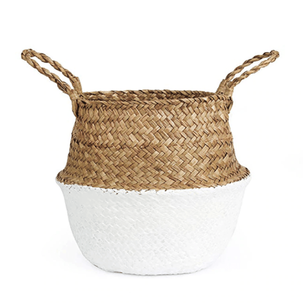 Natural White Seagrass Wicker Basket - Large - Propstation