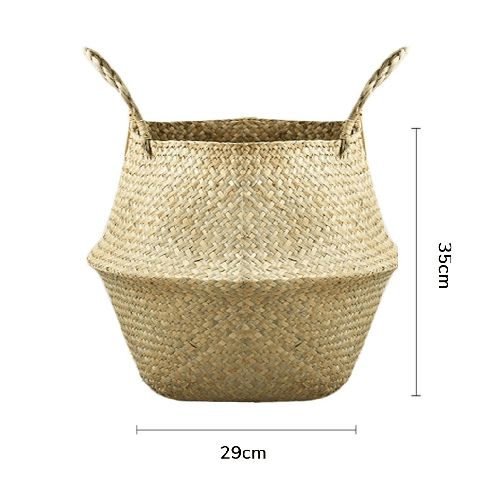 Natural Seagrass Wicker Basket - Large - Propstation