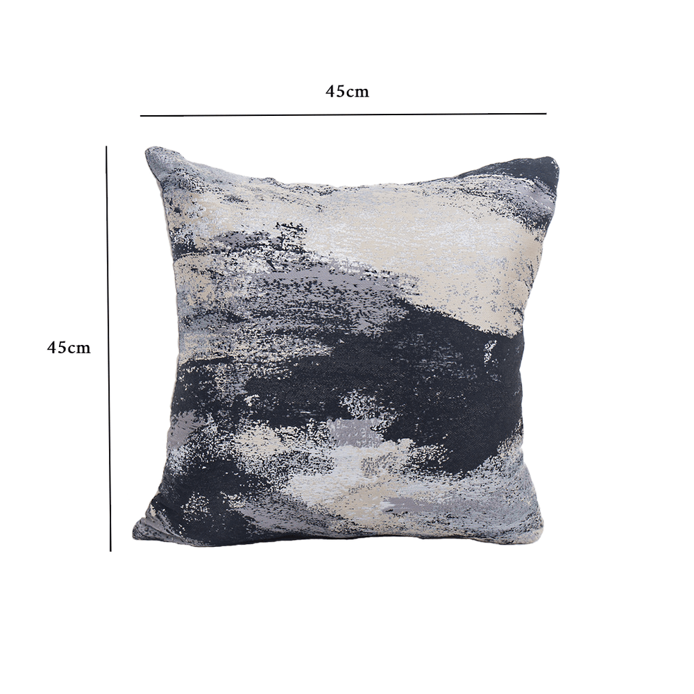 Textured Abstract Throw Pillow Cushion Cover Black - Propstation