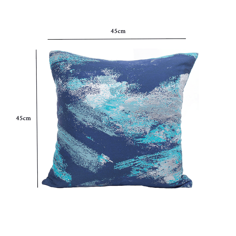 Textured Abstract Throw Pillow Cushion Cover Blue - Propstation