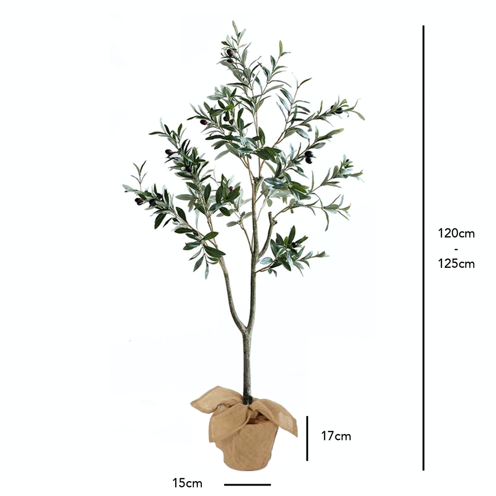 Realistic Olive Foliage Potted Faux Plant 120cm - Propstation