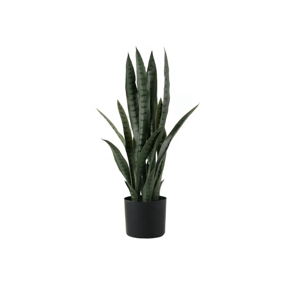 Potted Faux Sansevieria Succulent Snake Plant Green in Pot 60cm - Propstation