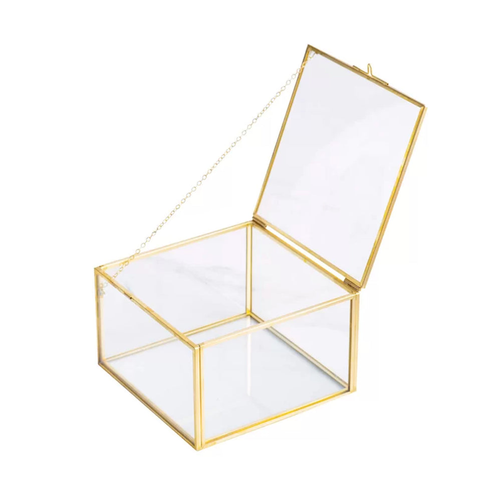 Square Glass Decorative Jewelry Box - Propstation