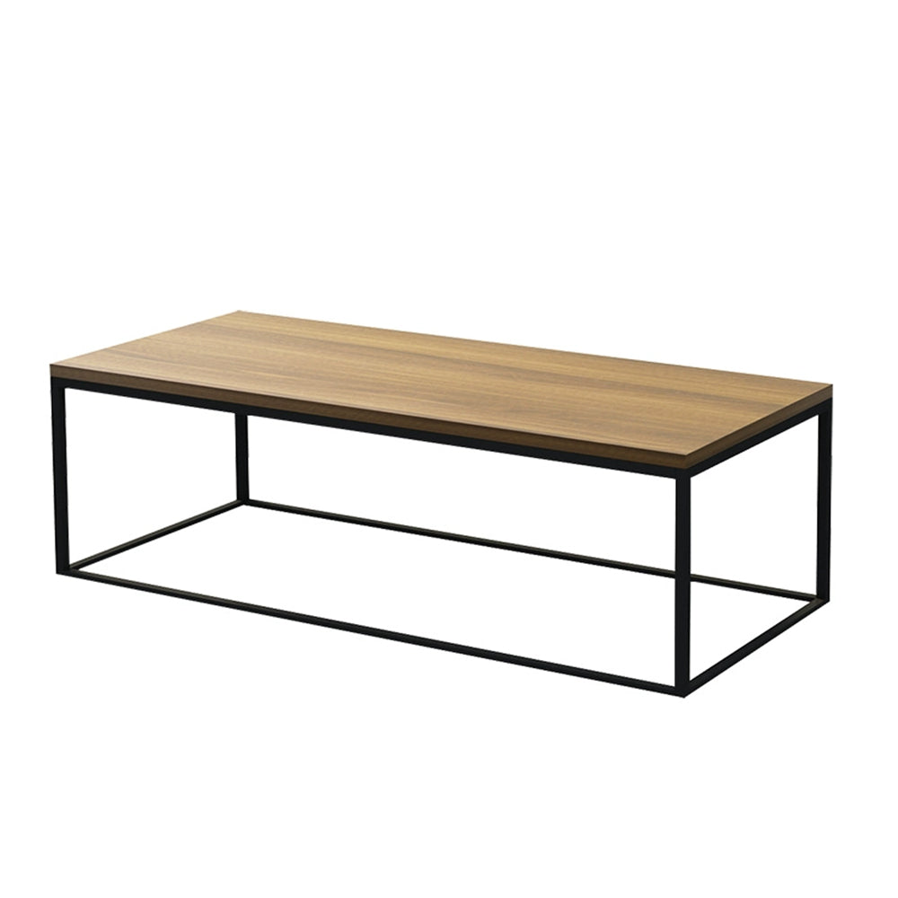 Rustic Industrial Sleek Iron Coffee Table 120cm - Propstation