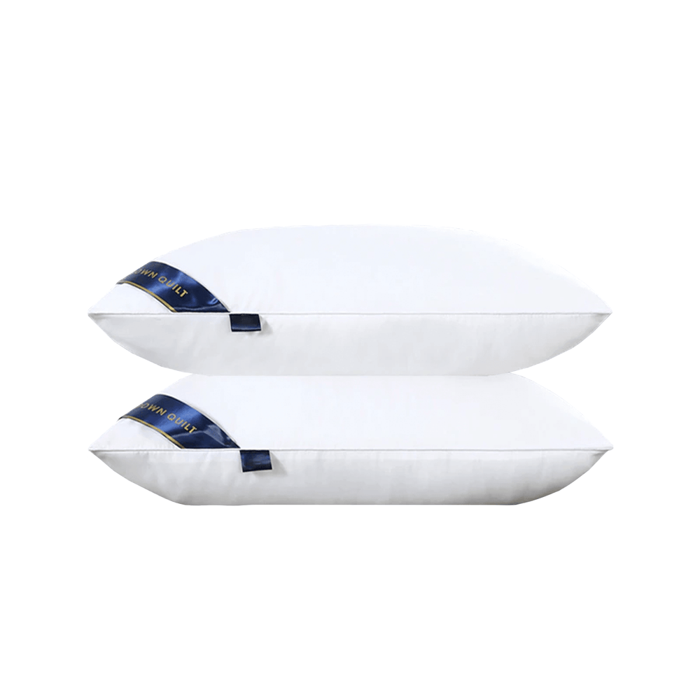 Luxury Matte Fabric Sleeping Bed Pillow Set of 2 - 50cm x 90cm