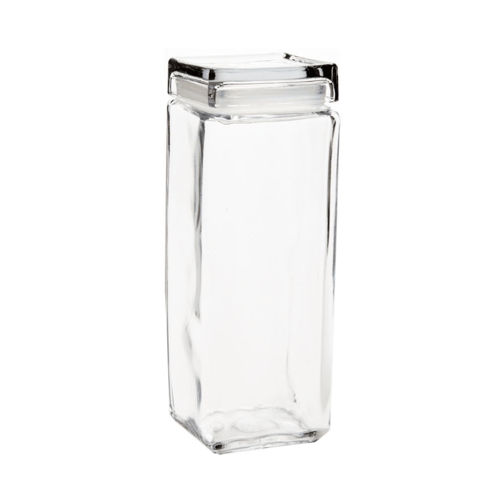 Crystal Clear Glass Sealed Jar with Lid 2200ml - Propstation