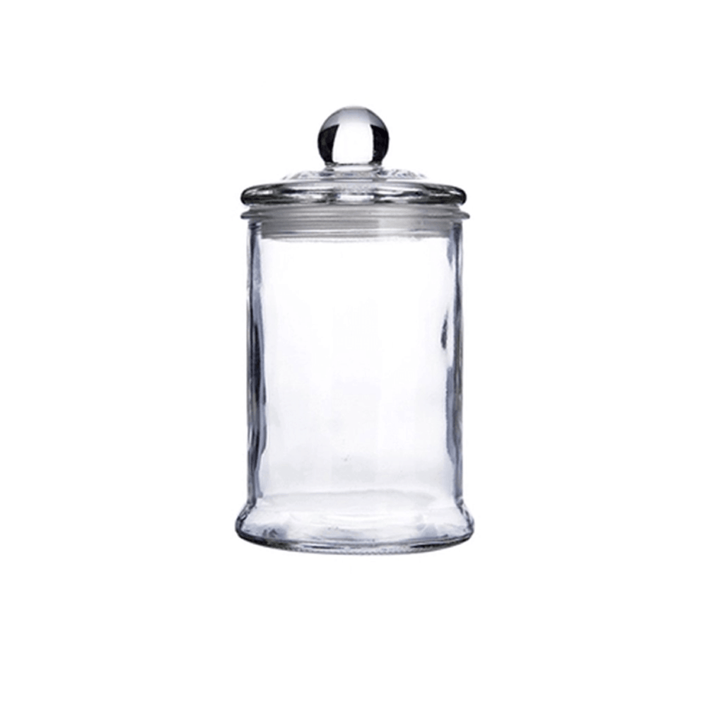 Heritage Airtight Borosilicate Clear Glass Jar with Lid - 1250ml - Propstation