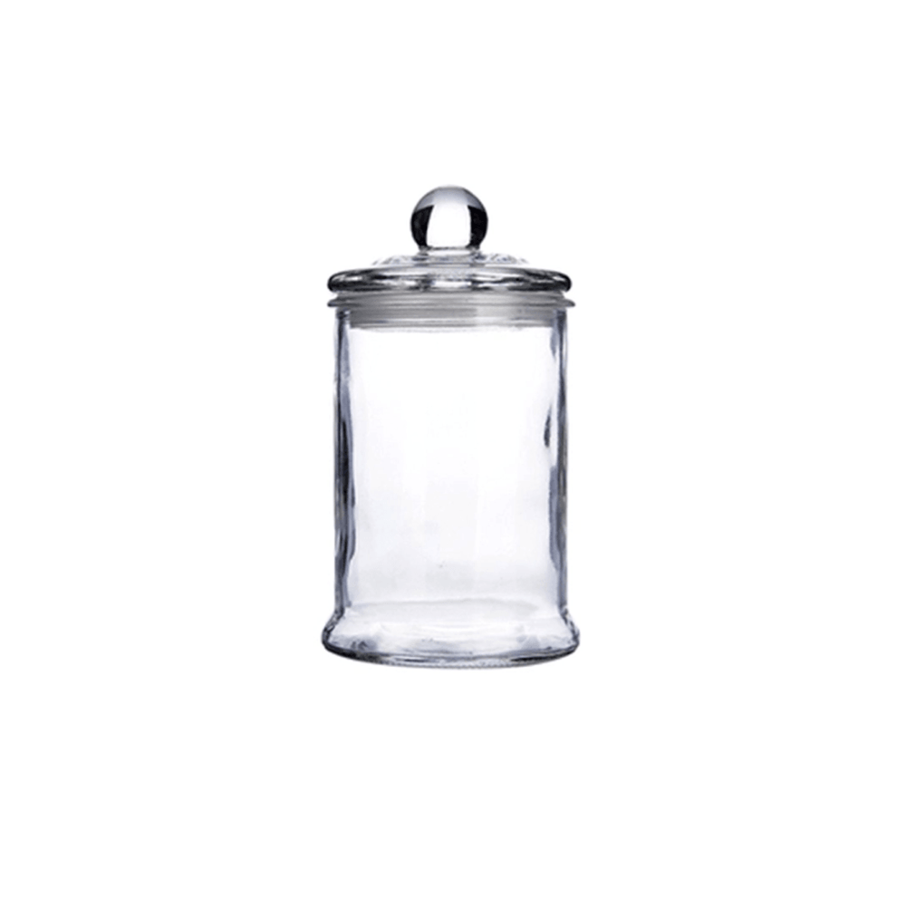 Heritage Airtight Borosilicate Clear Glass Jar with Lid - 370ml - Propstation
