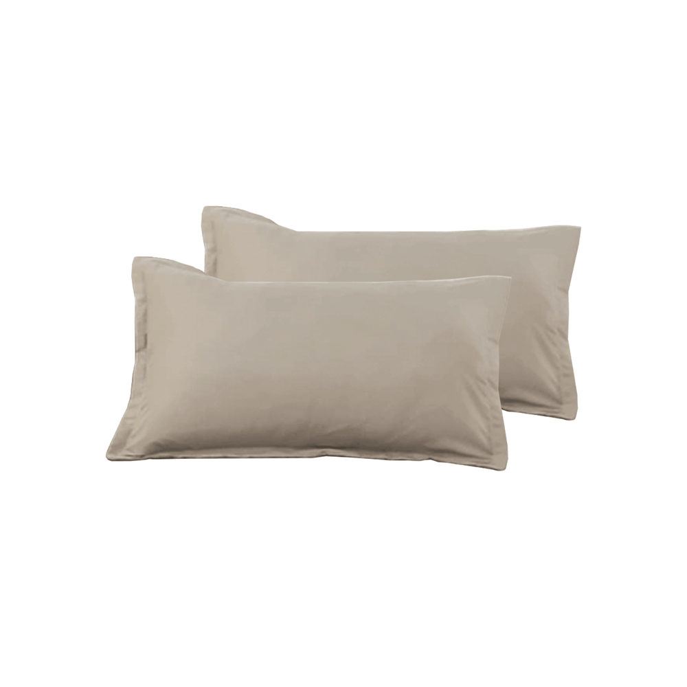 Solid Color Soft Pillowcase Cameo Brown - 50cm x 80cm