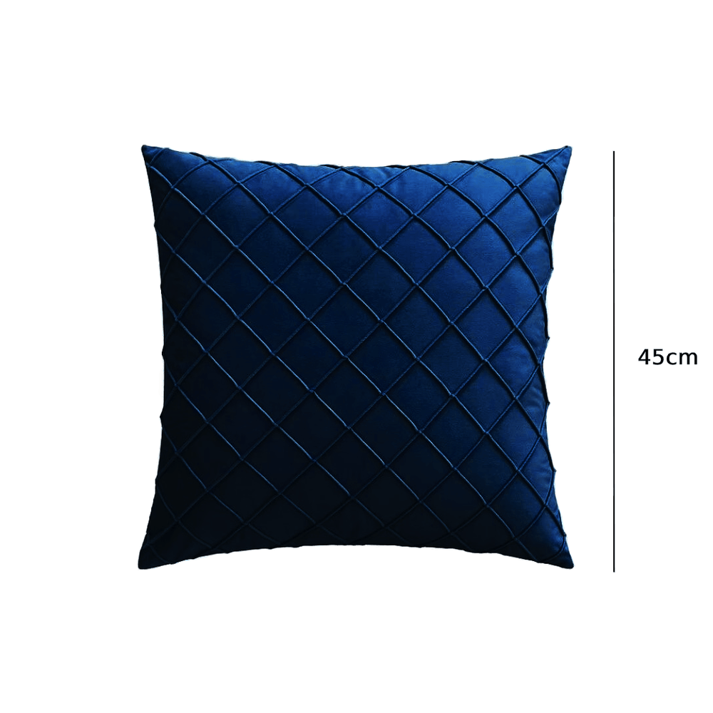 Premium Velvet Plaid Throw Pillow Cushion Cover Blue - Propstation