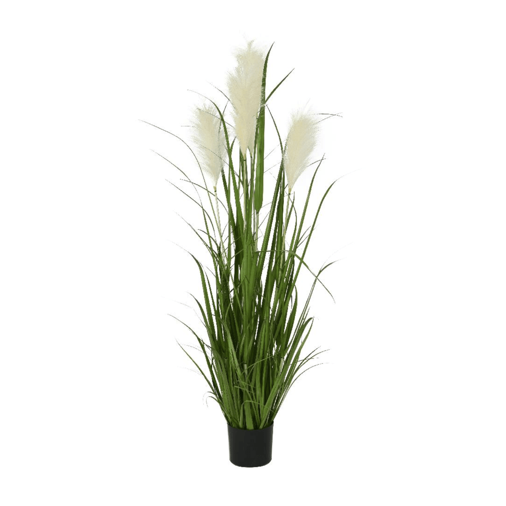 Potted Faux Green Pampas Grass Plant Tree 120cm