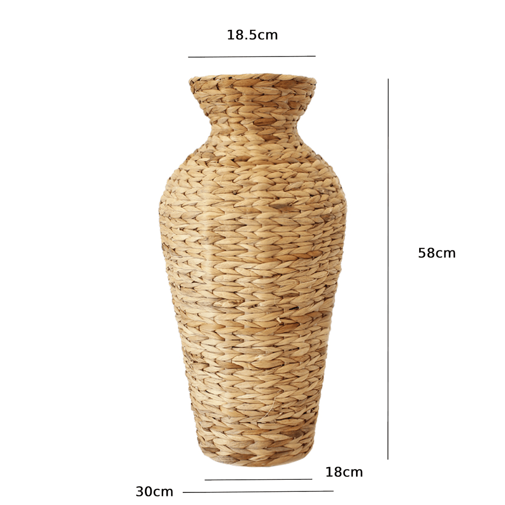 Woven Rattan Hyacinth High Floor Vase - Propstation
