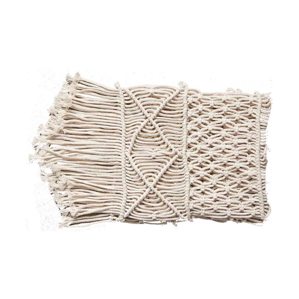 Handwoven Macrame Cotten Cord Rope Table Runner 30cmx180cm - Propstation