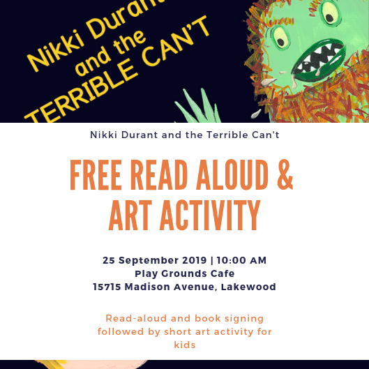 Free Read Aloud and Activity at Play Grounds Cafe in Lakewood, OH