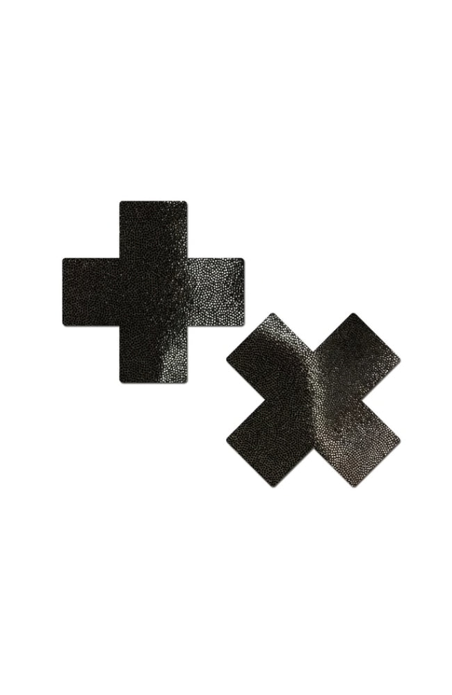 Pastease Everyday Reusable Black Cross Pasties