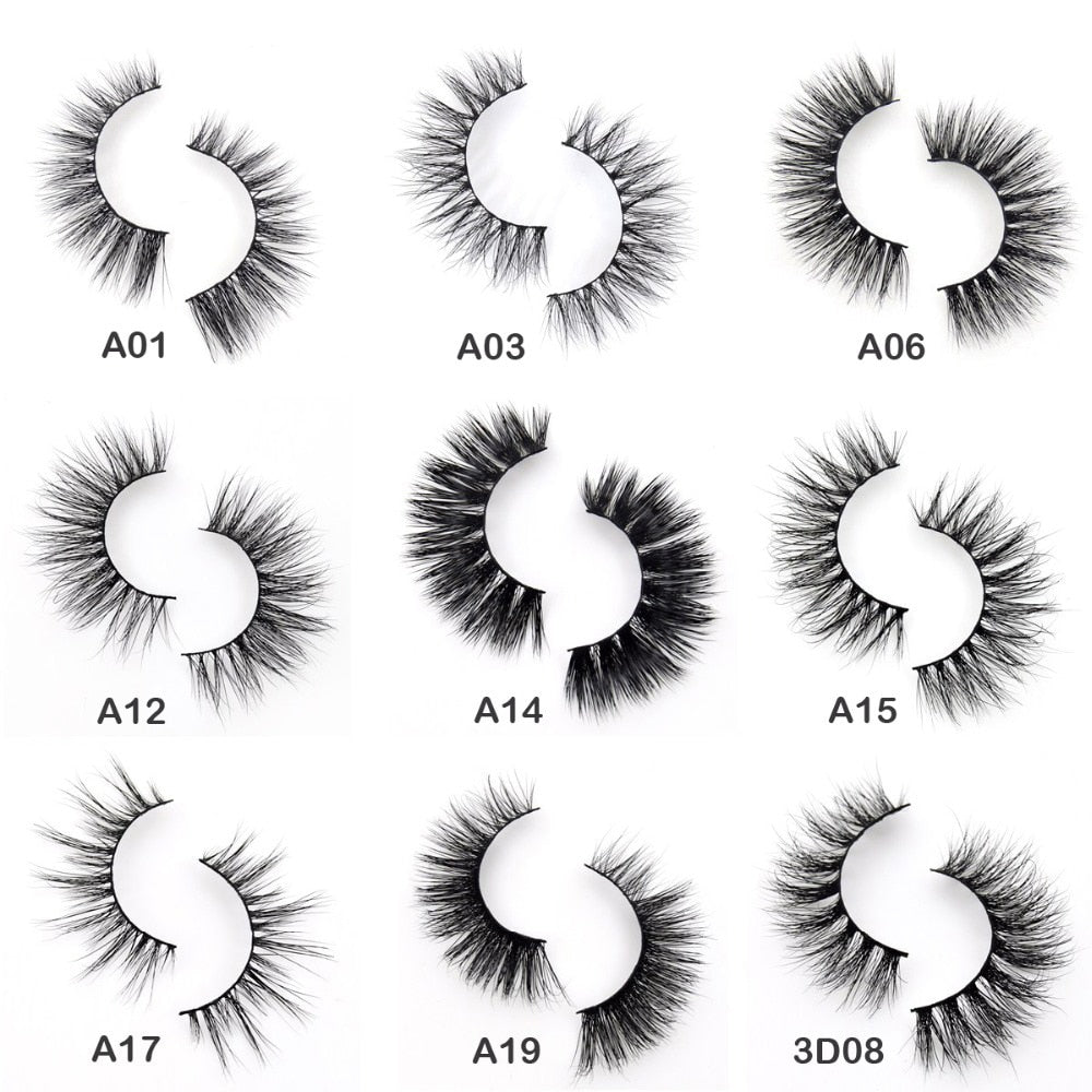 Eyelashes 3D Mink Eyelashes Crossing Mink Lashes