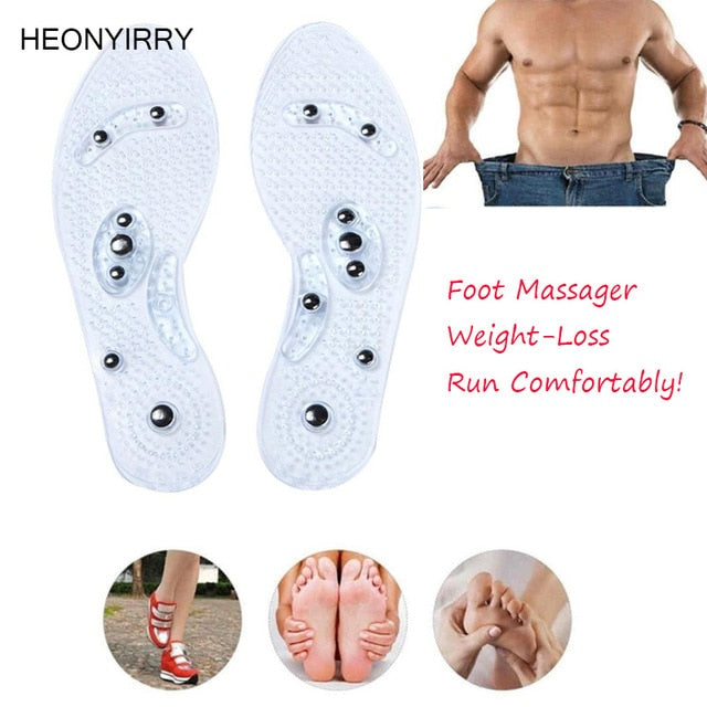 3Pairs Shoe Gel Insoles Feet Magnetic Therapy Health Care