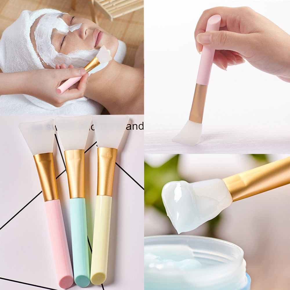 3 Colors Facial Mask Stirring Brush Soft Silicone