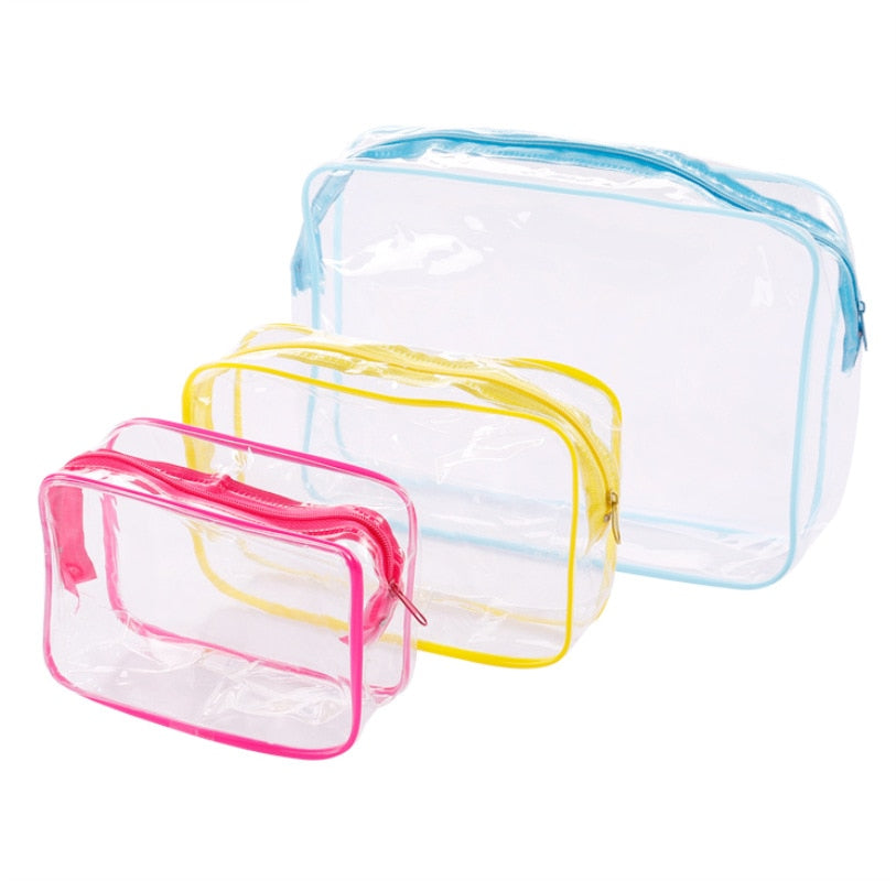 Travel PVC Cosmetic Bags Women Transparent Clear