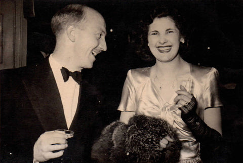 Doreen with her husband, Geoffrey Heaton, circa 1950. © Westmorland Sheepskins