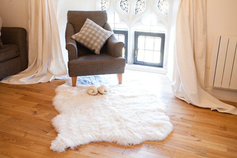 Quad Sheepskin Rug - British White