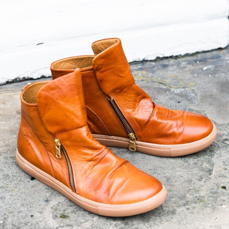 Women's Leather Boots by Safe Step - 19515 (Cognac)