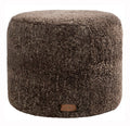 Cappuccino Round Sheepskin Footstool / Pouffe (Frida by Shepherd)