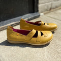 Jungla womens leather shoes in yellow