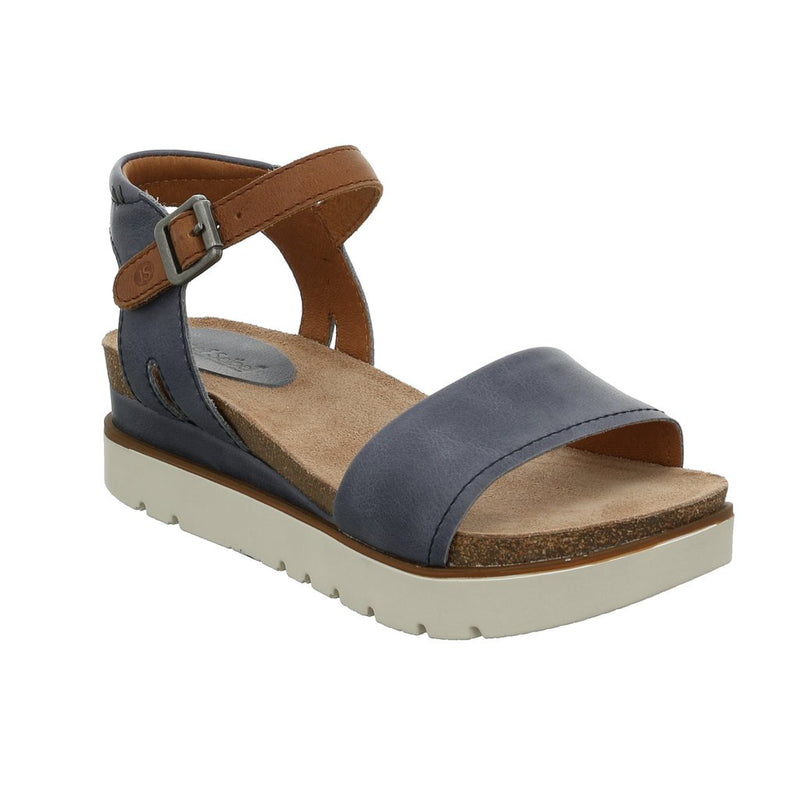 Josef Seibel womens leather sandals in blue