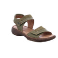 Josef Seibel ladies leather sandals in green