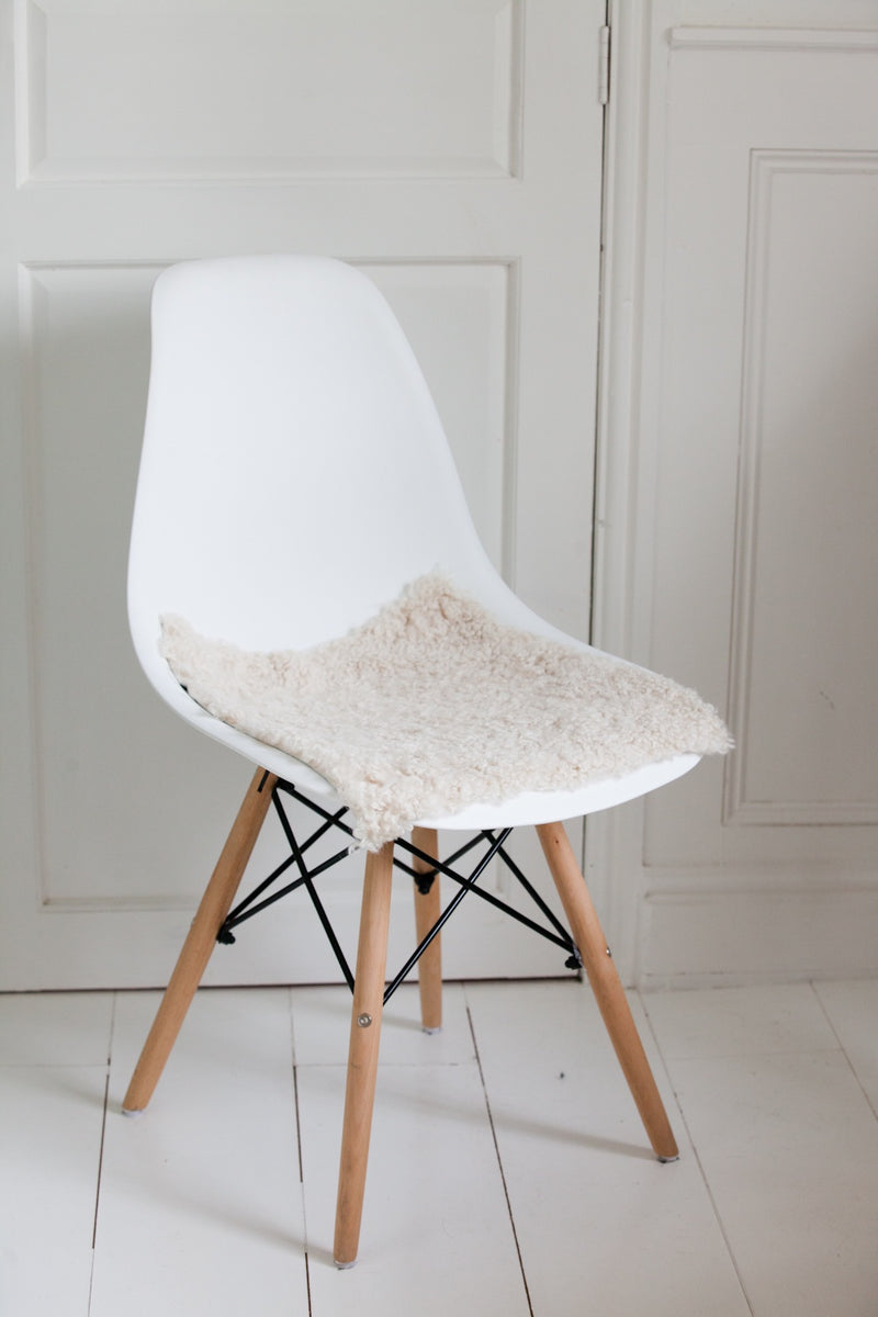 Swedish Sheepskin Chair Cushion / Pad (Square)
