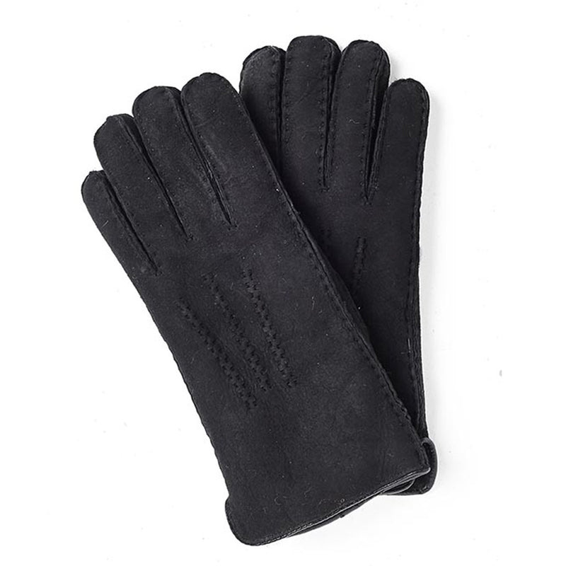 Ladies Hand Sewn Lambskin Gloves (Black)