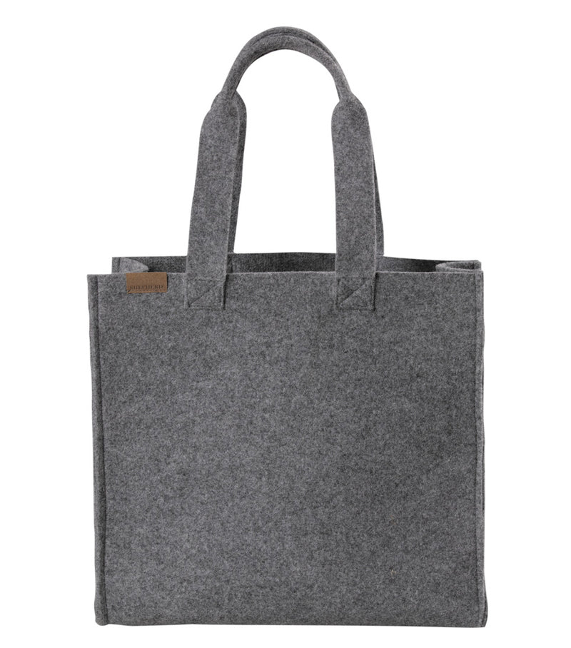 Shepherd of Sweden Wool Shopper Bag in Grey