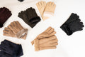 Ladies Sheepskin Gloves With Turn Up Cuff - Aubergine