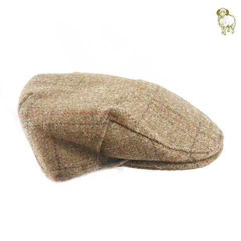 Brown Overcheck Flat Cap