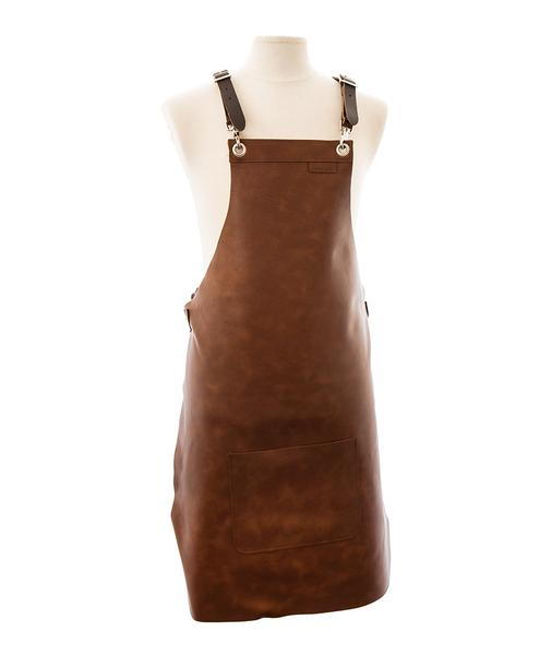 Heritage Brown hide Leather Full Length Apron