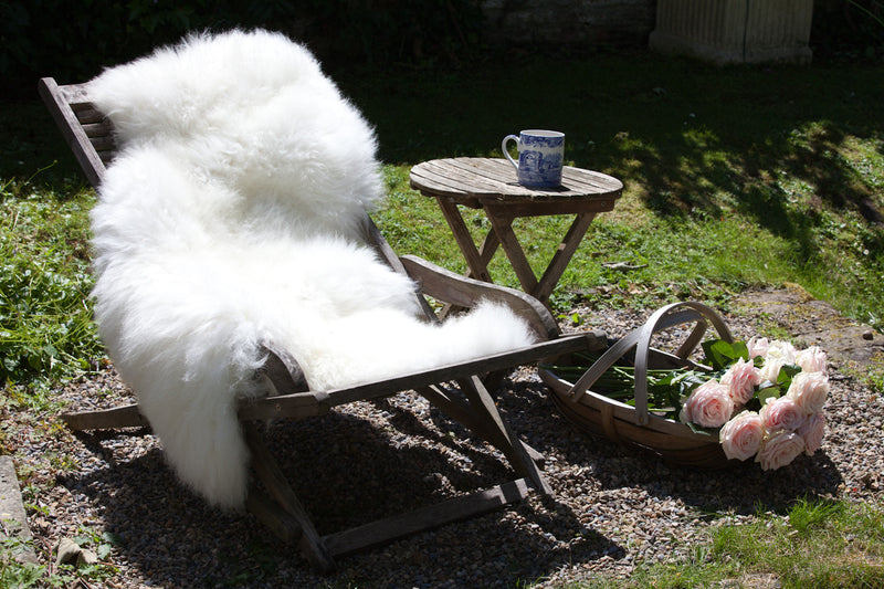 British Sheepskin Rug - Long wool Cream / White Natural